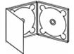Plantilla de digipack 3 cuerpos con doble bandeja